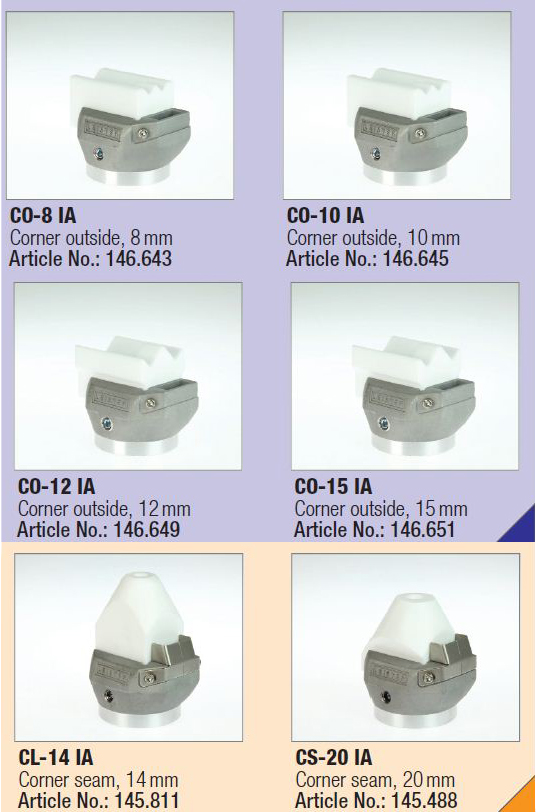 новые кгловые насадки для экструдеров Leister Fusion и Weldplast S2