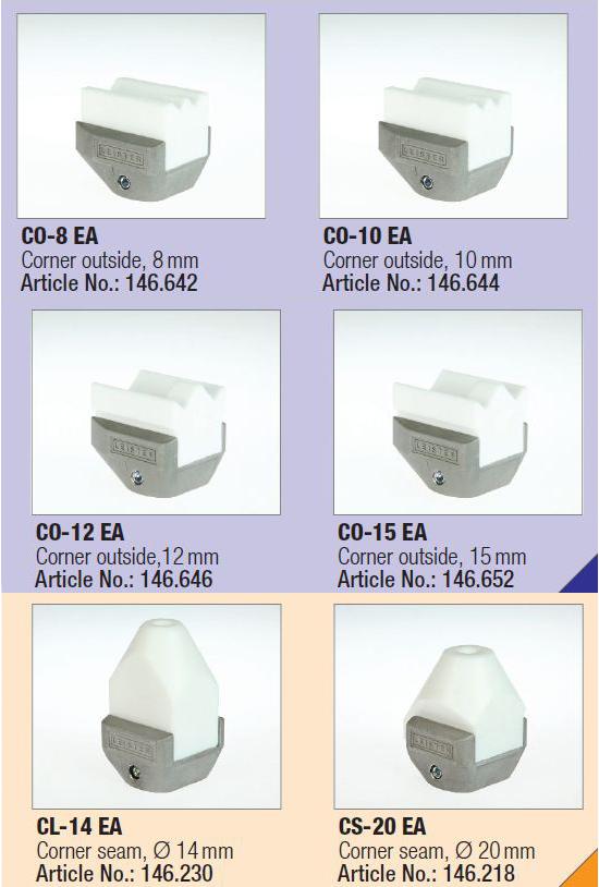 Угловые насадки для Leister WELDPLAST S2-PVC/S4/6